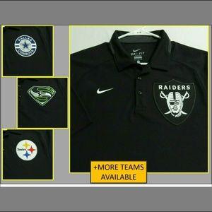 2XL Black Nike Dri-Fit Mens db Polyester #814 Polo